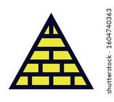 pyramid. simple vector color... | Shutterstock .eps vector #1604740363