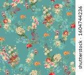 Seamless Flower Floral Texture...