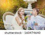 couple in love bride and groom... | Shutterstock . vector #160474640