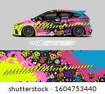 racing car wrap skull design...   Shutterstock .eps vector #1604753440