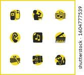 melody icons set with ear ... | Shutterstock . vector #1604777539