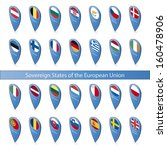 pins with the flags of... | Shutterstock .eps vector #160478906