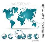 world map. vector illustration. | Shutterstock .eps vector #160479338