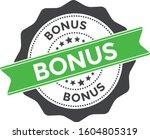 bonus stamp vector isolated...   Shutterstock .eps vector #1604805319