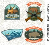 set of hunting club badge.... | Shutterstock .eps vector #1604820499