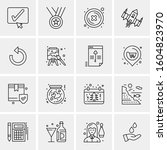 16 universal business icons... | Shutterstock .eps vector #1604823970
