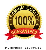 premium quality guaranteed gold ... | Shutterstock . vector #160484768
