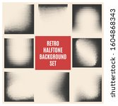 set of retro halftone... | Shutterstock . vector #1604868343