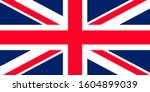 great britain. national flag.... | Shutterstock .eps vector #1604899039