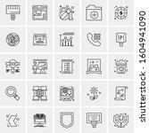 set of 25 universal business... | Shutterstock .eps vector #1604941090
