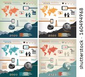 four in one infographics      4 ... | Shutterstock .eps vector #160494968