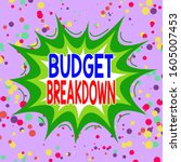 writing note showing budget... | Shutterstock . vector #1605007453