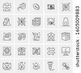 set of 25 universal business...   Shutterstock .eps vector #1605009883
