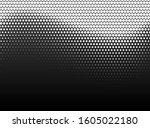 halftone hexagon fade effect.... | Shutterstock .eps vector #1605022180