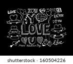 hand draw valentine's day... | Shutterstock .eps vector #160504226