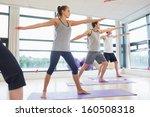 full length of sporty people... | Shutterstock . vector #160508318