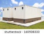 Cargo Container On Concrete...