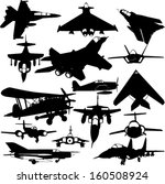 military airplanes collection 1 ... | Shutterstock .eps vector #160508924