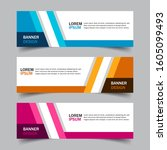 set of 3 web banner campaign... | Shutterstock .eps vector #1605099493