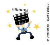 police and cinema clip flat...   Shutterstock .eps vector #1605110830