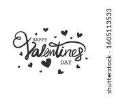 happy valentine's day hand...   Shutterstock .eps vector #1605113533