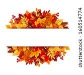 autumn leaves background....   Shutterstock .eps vector #160514774