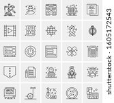 set of 25 universal business... | Shutterstock .eps vector #1605172543