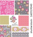 bold floral vector patterns. ... | Shutterstock .eps vector #160519040