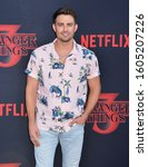 "Small photo of Jonathan Bennett attend the premiere of Netflix's ""Stranger Things"" Season 3 on June 28, 2019 in Santa Monica, California."