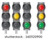 traffic lights. red  yellow ... | Shutterstock .eps vector #160520900