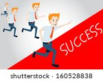 business man competition... | Shutterstock .eps vector #160528838
