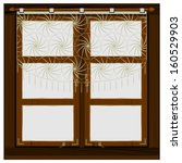 Old Wooden Window With Curtains ...