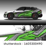 wrap car decal design vector ... | Shutterstock .eps vector #1605300490