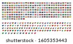 all national flags countries of ...   Shutterstock .eps vector #1605353443