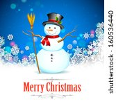 Illustration Of Snowman With...