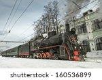 Soviet Steam Locomotive Stands...