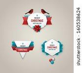 christmas labels set | Shutterstock .eps vector #160538624
