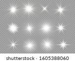 glow light effect  explosion ... | Shutterstock .eps vector #1605388060