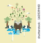illustration of a businessman... | Shutterstock .eps vector #160539440