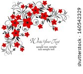 wedding card or invitation with ... | Shutterstock .eps vector #160542329