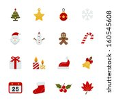 christmas icons with white... | Shutterstock .eps vector #160545608