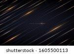 golden lines on dark background | Shutterstock .eps vector #1605500113