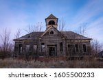 Old Abandoned Schoolhouse In...