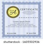 blue certificate of achievement.... | Shutterstock .eps vector #1605502936