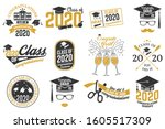 set of vector class of 2020... | Shutterstock .eps vector #1605517309