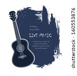 acoustic guitar live music... | Shutterstock .eps vector #160553876