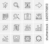 16 universal business icons... | Shutterstock .eps vector #1605570853