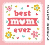 Vector Happy Mothers Day Card...