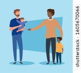 parents with sons avatar... | Shutterstock .eps vector #1605670066
