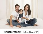 young couple mother father and... | Shutterstock . vector #160567844